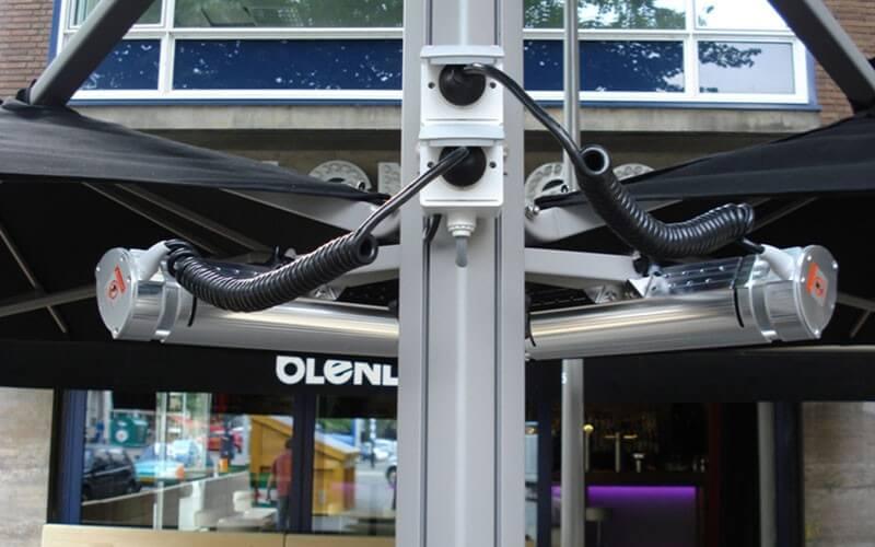 parasol met verwarming