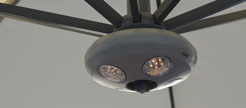 Verlichting en verwarming in je parasol