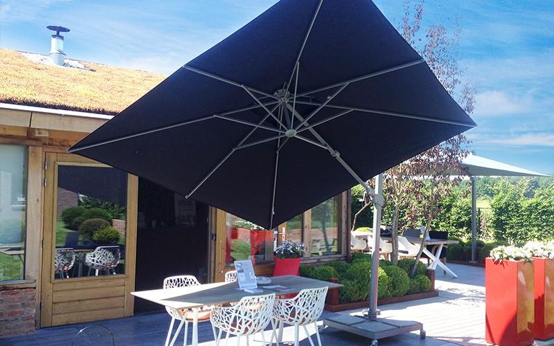 solero fratello kantelbare zweefparasol 3x3 meter. Black Bedroom Furniture Sets. Home Design Ideas