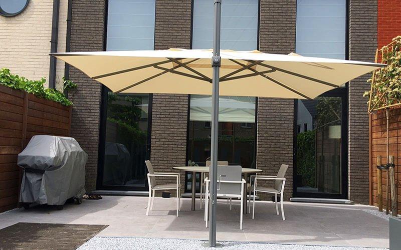 Zweefparasol Vierkant 400x400.Solero Palestro Pro Grote Zweefparasol 4x3 Of 4x4 Meter