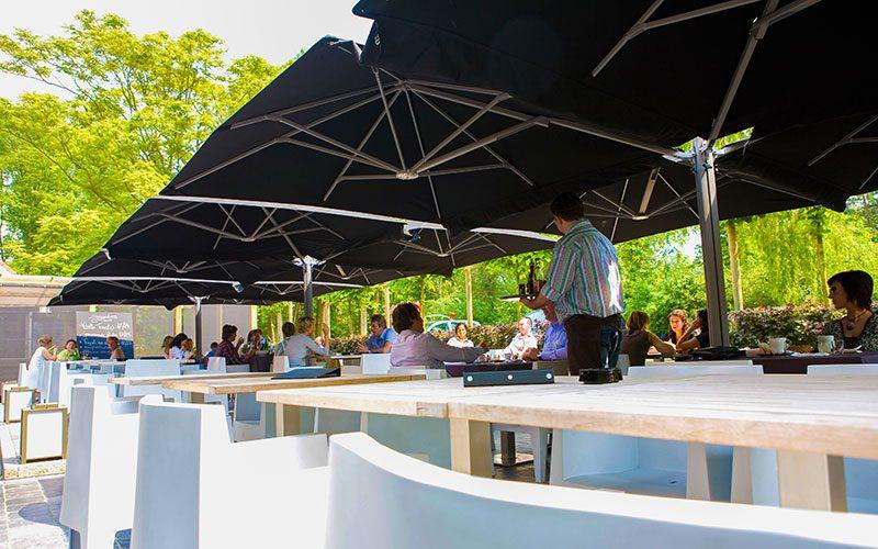 solero horecaparasols professionele parasols voor caf of restaurant