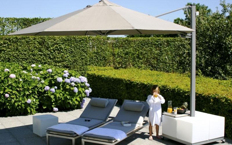 Solero prostor tuin parasol met 1 tot 4 doeken aan een mast - Gespannen terras ...